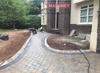 interlock paving stones on driveway