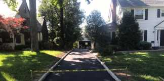 asphalt driveway Shadownlawn Drive, Westfield