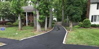 Westfield Asphalt Driveway with step and new Walkway
