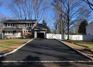 Granite Curb Asphalt Driveway Installation in Heritage Drive, Green Brook