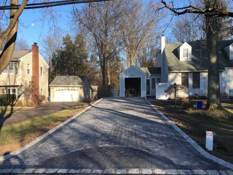 Belgian Block Driveway and Sidewalk in Somerset, New Jersey