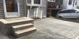 Concrete Driveway and Refurbished Stoops in North Arlington, New Jersey