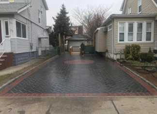 Interlock Paved Driveway with Matching Sidewalk in North Arlington, New Jersey