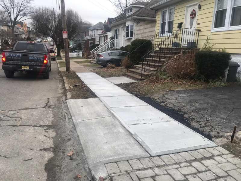 New Concrete Sidewalk in Cliffside Park, NJ