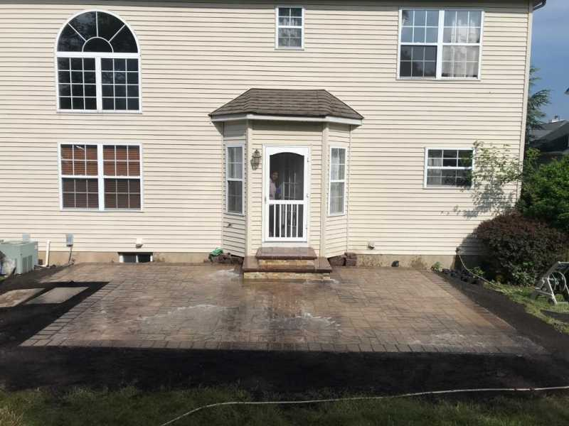 New Patio with Steps in Bridgewater, NJ