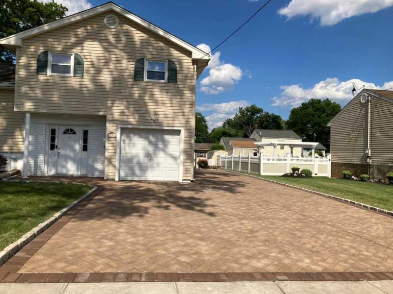 New Paved Driveway in Clark, New Jersey