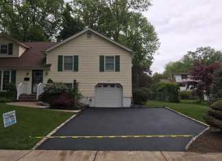 Three New Asphalt Driveways in Morristown, New Jersey